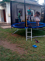 Батут 312см (10ft) диаметр FunJump с внешней сеткой и лестницей