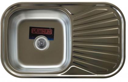 Мойка из нержавеющей стали 08мм Platinum 7848  сатин