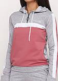 Спортивный костюм женский светло-серый Aylin меланж, фото 3