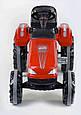 Дитячий трактор з педалями Pilsan 07-321 Червоний (прогумовані колеса, регульоване сидіння, клаксон на кермі), фото 3