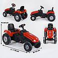 Дитячий трактор з педалями Pilsan 07-321 Червоний (прогумовані колеса, регульоване сидіння, клаксон на кермі), фото 6