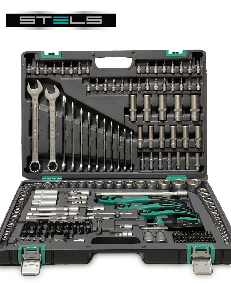 Професійний набір інструменту 216 ел. STELS - 14115 (Оригінал)