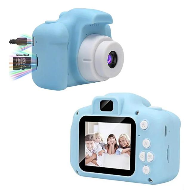 Детская камера, Детский цифровой фотоаппарат, Kids Camera с дисплеем  2.0 3Mpx, 1080P HD F3 Blue SKL25-223377