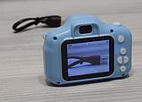 Детская камера, Детский цифровой фотоаппарат, Kids Camera с дисплеем  2.0 3Mpx, 1080P HD F3 Blue SKL25-223377, фото 7
