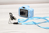 Детская камера, Детский цифровой фотоаппарат, Kids Camera с дисплеем  2.0 3Mpx, 1080P HD F3 Blue SKL25-223377, фото 9