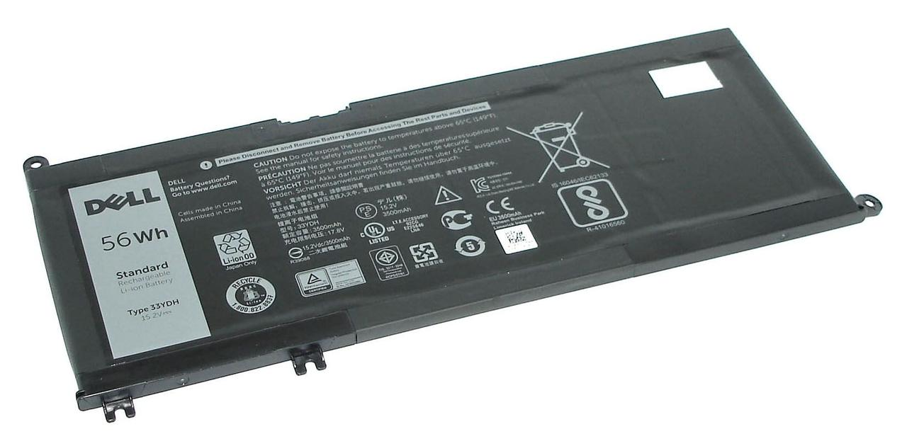 Оригинальная аккумуляторная батарея для ноутбука Dell 33YDH Inspiron 17-7778 15.2V Black 3400mAh