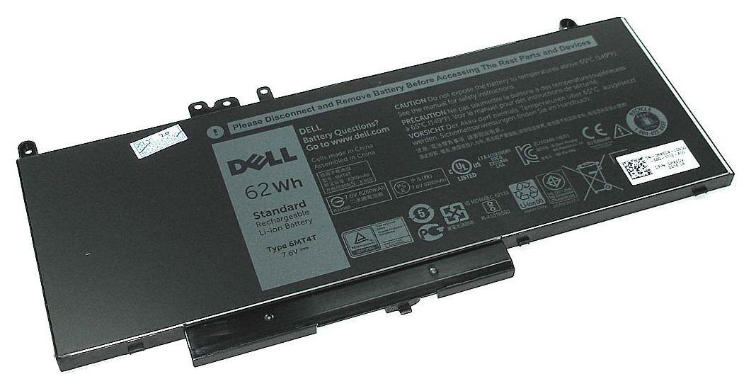 Оригинальная аккумуляторная батарея для ноутбука Dell 6MT4T Latitude E5470 7.6V Black 8100mAh