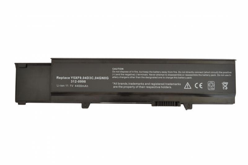 Оригинальная аккумуляторная батарея для ноутбука Dell CYDWV 11.1V Black 4400mAh