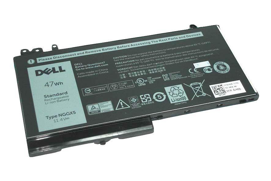 Оригинальная аккумуляторная батарея для ноутбука Dell NGGX5 Latitude 12 E5270 11.4V Black 4090mAh