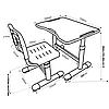 Комплект парта и стул-трансформеры FunDesk Sole II Grey - ОПТОМ ДЛЯ ШКОЛ, фото 4