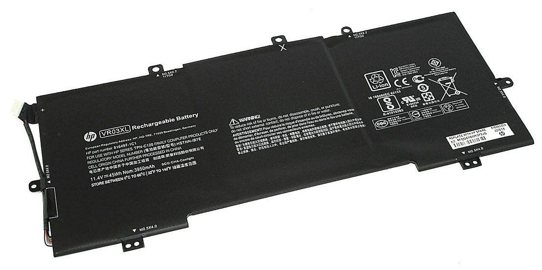 Оригинальная аккумуляторная батарея для ноутбука HP VR03XL Pavilion 13-d 11.4V Black 3950mAh