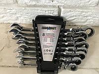 Набор рожково-накидных ключей с трещеткой Euro Сraft ECS8 8 шт