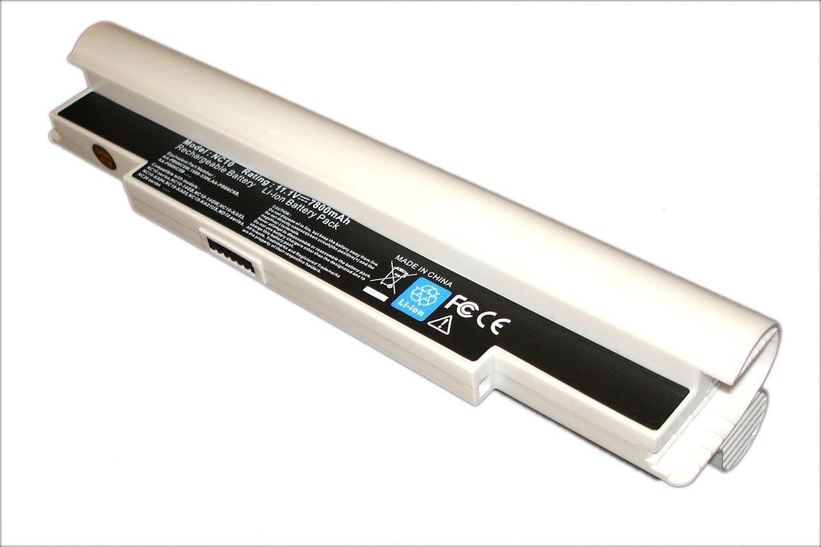 Усиленная аккумуляторная батарея для ноутбука Samsung AA-PB6NC6W NC10 11.1V White 6600mAh OEM