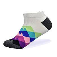 Набор низких носков, 6 пар, размер 39-45, разноцветные, яркие, happy socks, мужские/женские - унисекс, фото 2