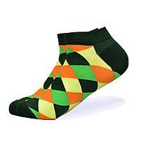 Набор низких носков, 6 пар, размер 39-45, разноцветные, яркие, happy socks, мужские/женские - унисекс, фото 3