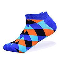Набор низких носков, 6 пар, размер 39-45, разноцветные, яркие, happy socks, мужские/женские - унисекс, фото 4
