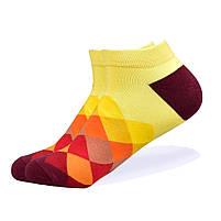 Набор низких носков, 6 пар, размер 39-45, разноцветные, яркие, happy socks, мужские/женские - унисекс, фото 5