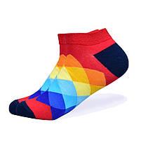 Набор низких носков, 6 пар, размер 39-45, разноцветные, яркие, happy socks, мужские/женские - унисекс, фото 7