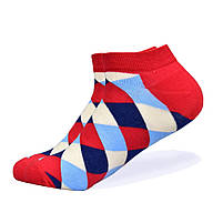 Набор низких носков, 6 пар, размер 39-45, разноцветные, яркие, happy socks, мужские/женские - унисекс, фото 6