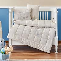Детский набор в кроватку для младенцев Karaca Home Cloudy бежевый (4 предмета)