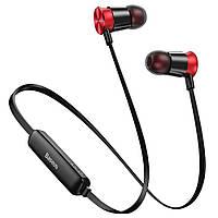 Беспроводные наушники Baseus Encok Sports Wireless Earphone S07 красный + черный