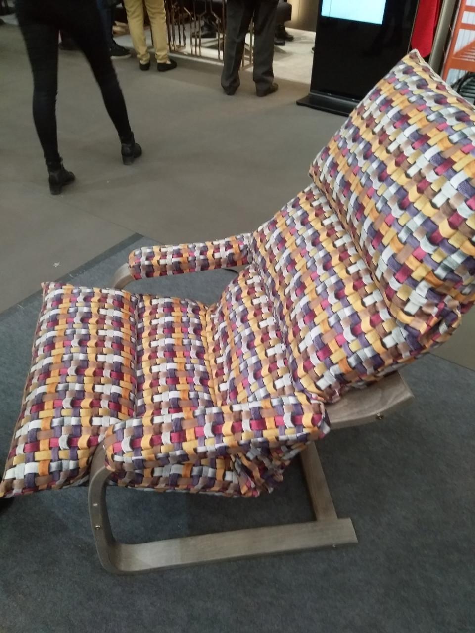 Лаундж кресло Супер Комфорт Дизайн с эффектом покачивания, ткань тиссаж 03