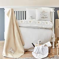 Детский набор в кроватку для младенцев Karaca Home Atlikarinca бежевый (8 предметов)