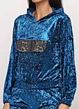 Спортивный костюм  женский синий Ru-Bu однотонный, S,M,L,XL, фото 3