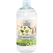 Зеленая Аптека мицеллярная вода 3в1 Зеленый чай и алое 500 мл