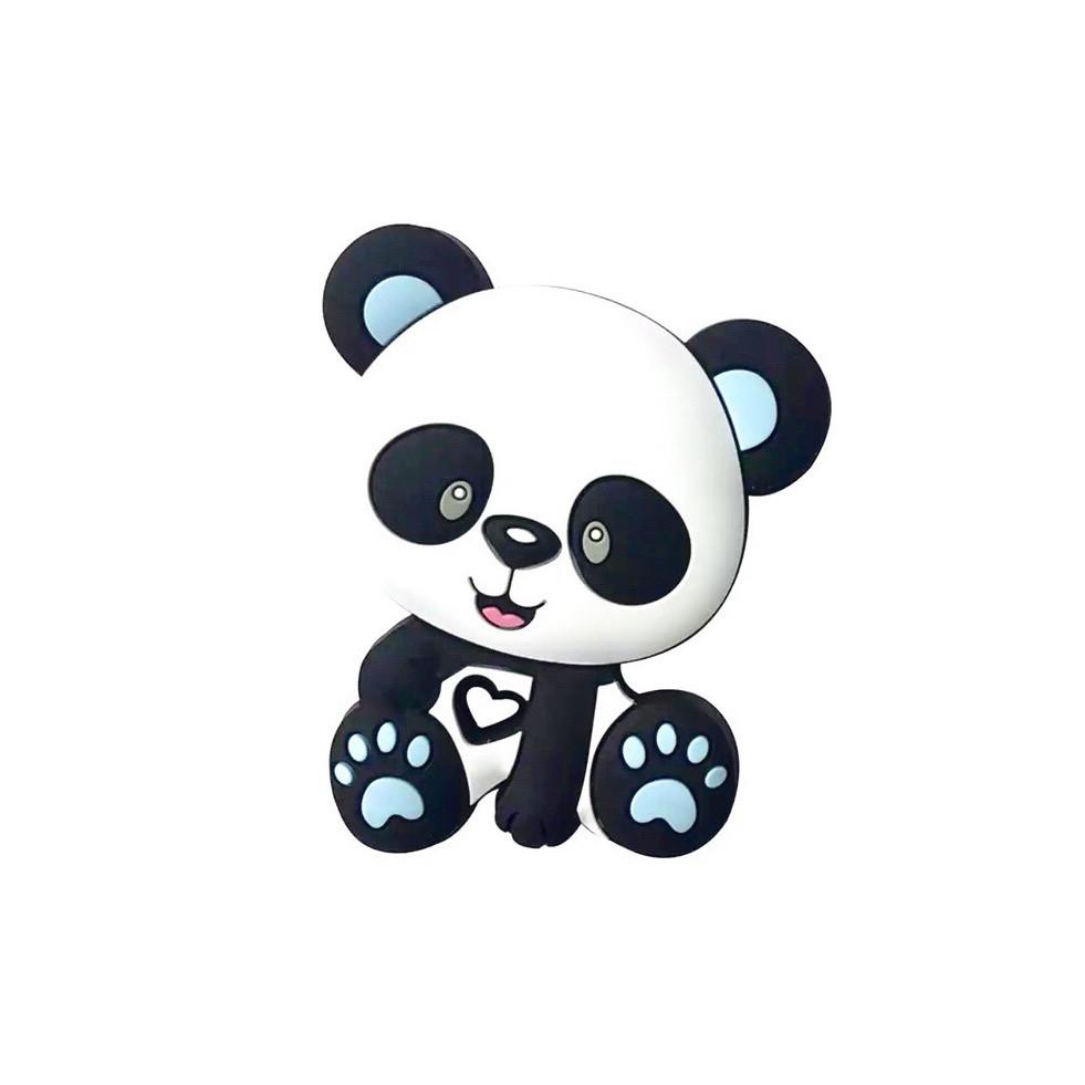 Панда Новая бусина (беби блю ) силиконовая бусина