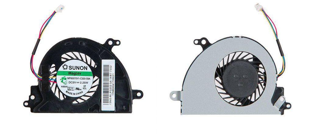 Вентилятор для ноутбука Asus D553M, F553M, X403M, X453, X553, X553M, X553MA, 5V 0.21A 4-pin SUNON