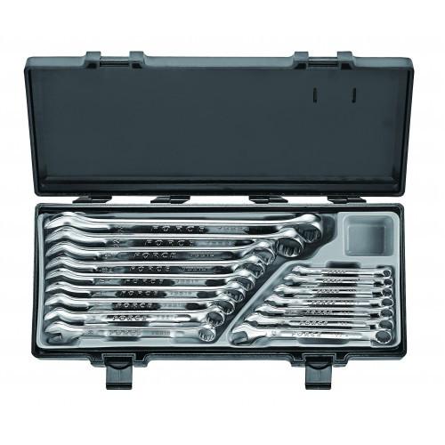 Набор рожково-накидных ключей FORCE 16 предметов (6-24 мм) в кейсе