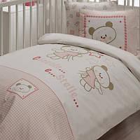 Детский набор в кроватку для младенцев Karaca Home Stella розовый (7 предметов)