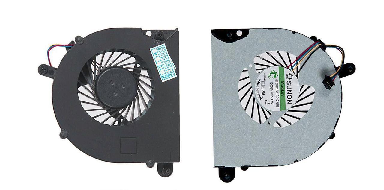 Вентилятор для ноутбука HP ProBook 6560B, 6565B, 8560P, 8560w, 8570p, 6570b, VER-2, 5V 0.25A 4-pin SUNON