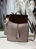 Женский рюкзак 4008 бронза Рюкзаки женские оптом недорого Одесса 7 км, фото 1