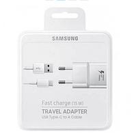 Мережевий зарядний пристрій Fast Charger 2USB + Type-C B411 Cable