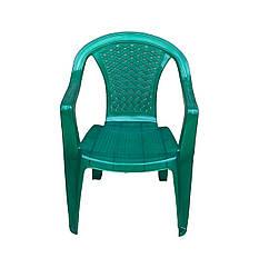Кресло садовое со спинкой 560х555х805мм ЗЕЛЕНЫЙ Консенсус