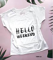 Женская футболка с накатом 5384 Со, фото 1