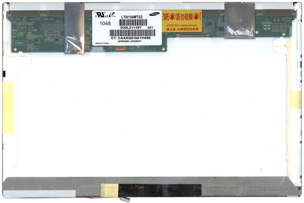 "Матрица для ноутбука 15,4"", Normal (стандарт), 30 pin (снизу слева), 1680x1050, Ламповая (1 CCFL), без креплений, глянцевая, Samsung, LTN154MT02-001"