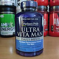 Вітаміни Puritan's Pride Ultra Vita Man Timed Release 180 caplets Пуританс чоловічі вітаміни, мінерали