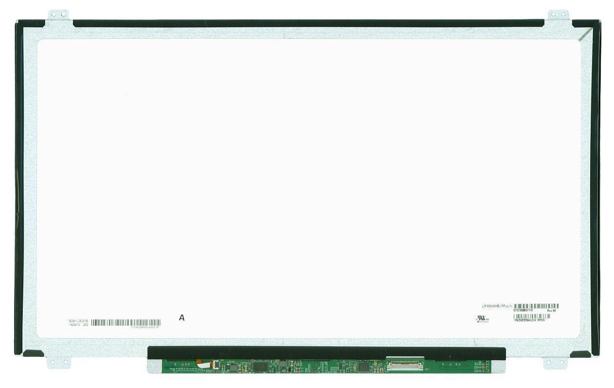 """Матриця для ноутбука 15,6"""", Slim (тонка), 30 pin eDp (знизу справа), 1366x768, Світлодіодна (LED), кріплення"""