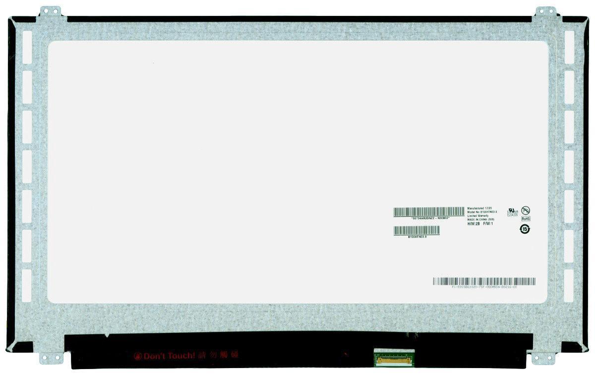 "Матрица для ноутбука 15,6"", Slim (тонкая), 30 pin eDp (снизу справа), 1920x1080, Светодиодная (LED), крепления сверху\снизу, глянцевая, AU Optronics"