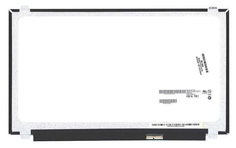 "Матрица для ноутбука 15,6"", Slim (тонкая), 40 pin (снизу справа), 1920x1080, Светодиодная (LED), крепления"