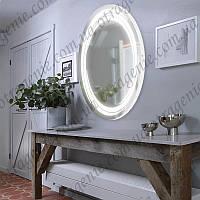 Зеркало с LED подсветкой 10 Вт 600х800 овальное выключатель | дзеркало овальне з підсвіткою і кнопкою