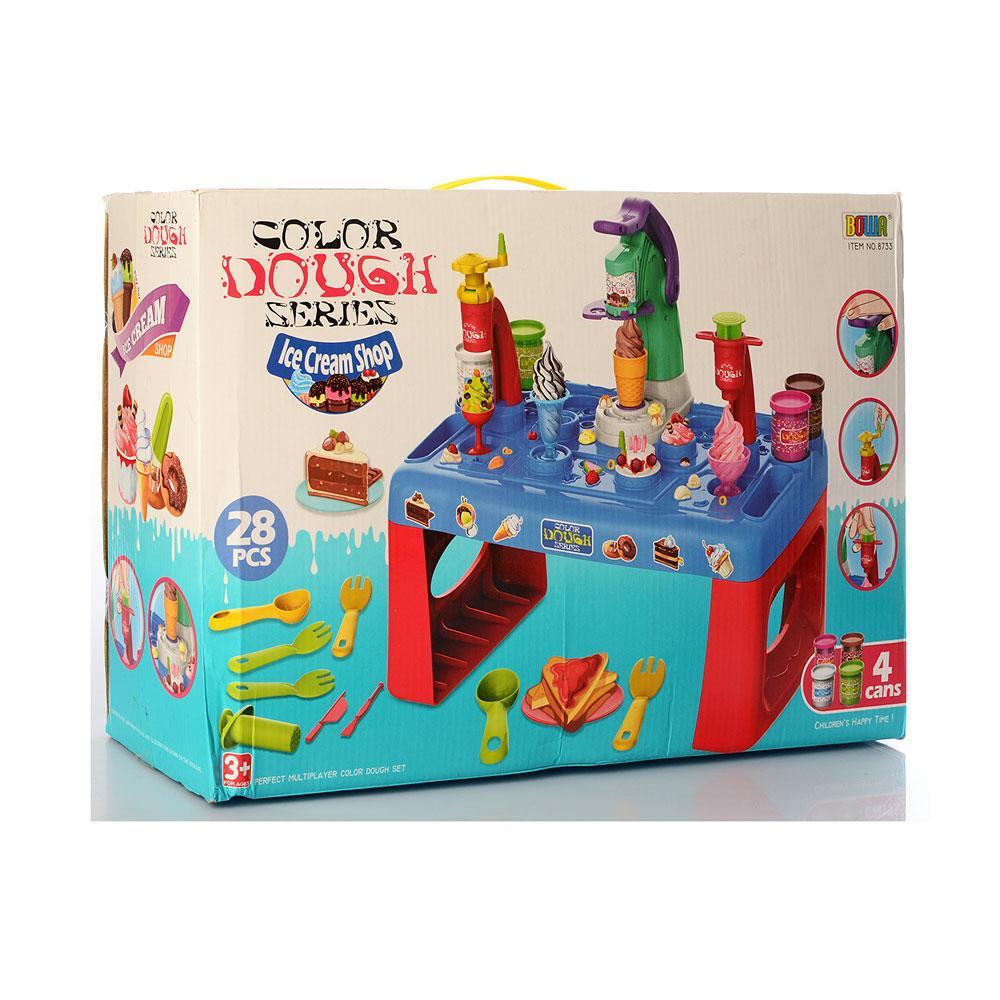 Детский пластилин MK 3880 набор мороженое 28 предметов аппарат-пресс инструменты