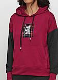Спортивный костюм женский малиновый Godsend с надписями, 42р,44р,46р,48р., фото 4