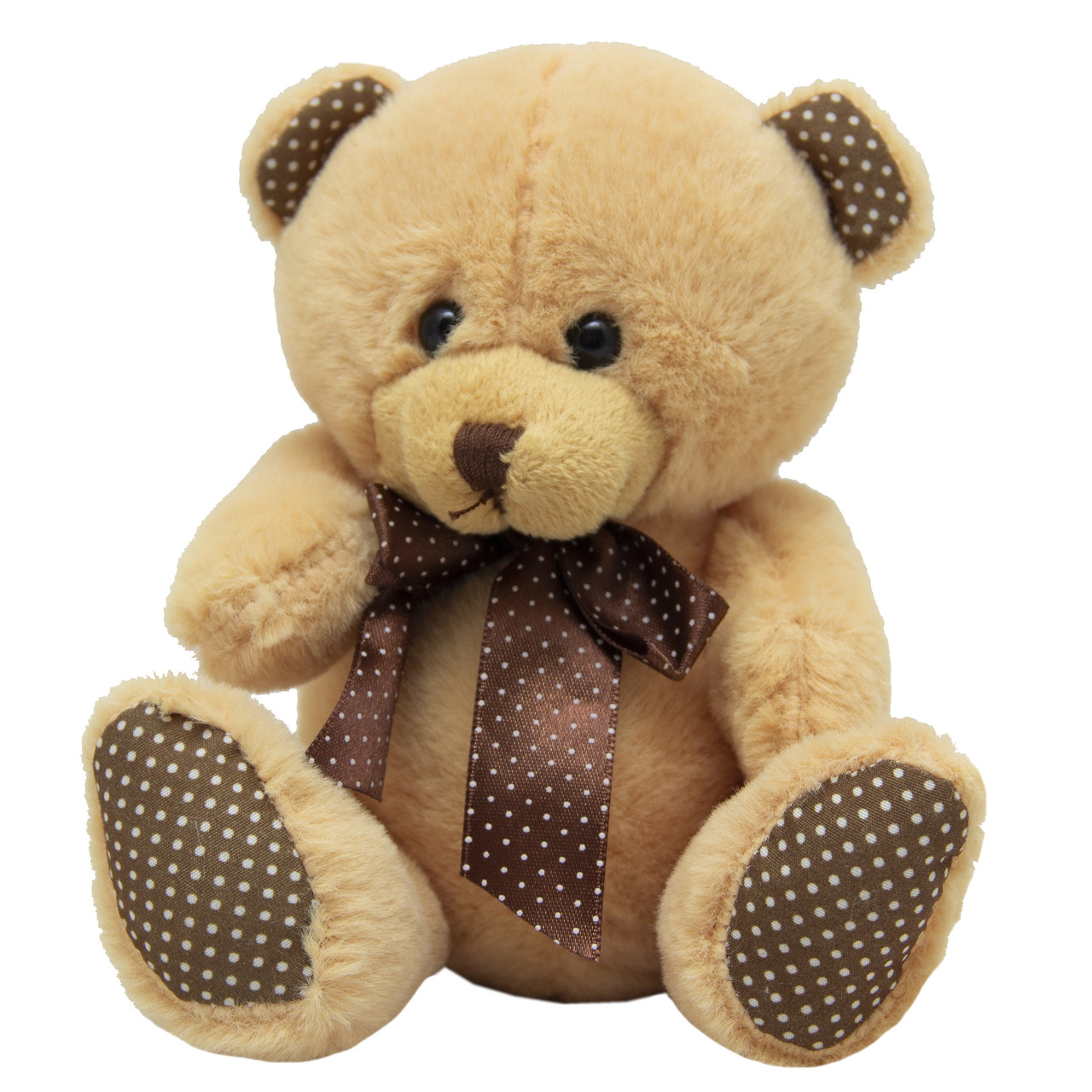 Мягкая игрушка Медведь, золотой с бантом, 15 см (043156-6-2)