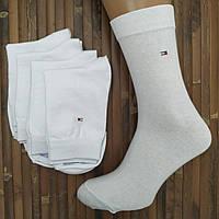 Носки мужские демисезонные высокие ТН мерсеризованный  хлопок 27р.белые (без этикетки) 20006747