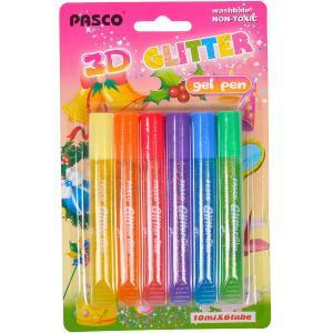 Клей с блёстками   10 мл «Pasco» 6 кольорів