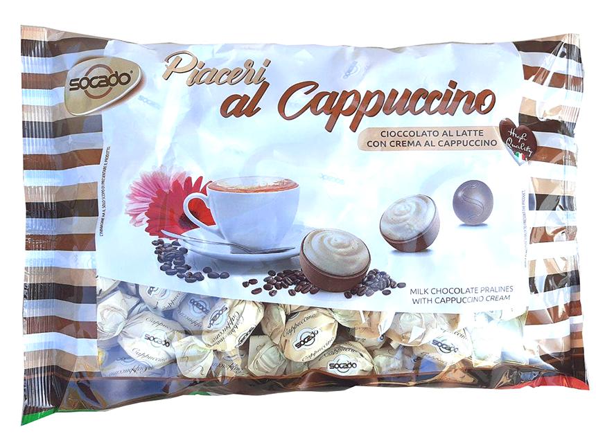 Шоколадные конфеты Капуччино PIACERI 1 кг 1/6 шт Сокадо